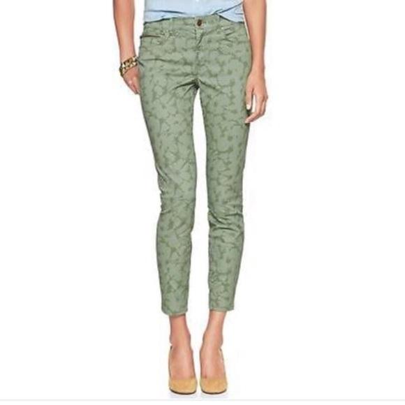 GAP Denim - GAP 1969 Floral Ankle Zip Legging Jeans